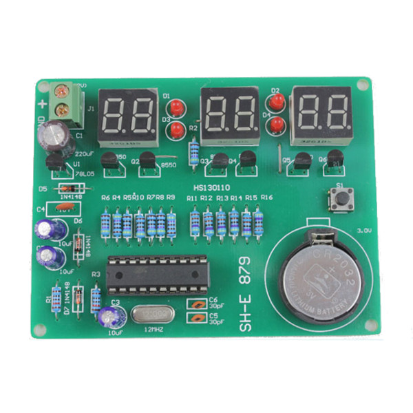 DIY 6 Digital LED Electronic Clock Kit 9V-12V AT89C2051 mick johnson motivation is at