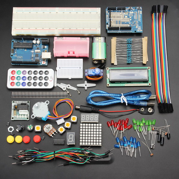 Geekcreit™ UNO Basic Starter Learning Kit Upgrade Version For Arduino 1 set starter kit basic learning suite for uno r3 kit upgraded stepper motor led jumper wire kits for arduino with retail box