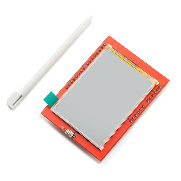 2.4 Inch TFT LCD Shield Touch Board Display Module For Arduino UNO 3 2inch lcd adapter 8 bit to 16 bit data convertor for 3 2 320x240 touch lcd 74hc573d onboard