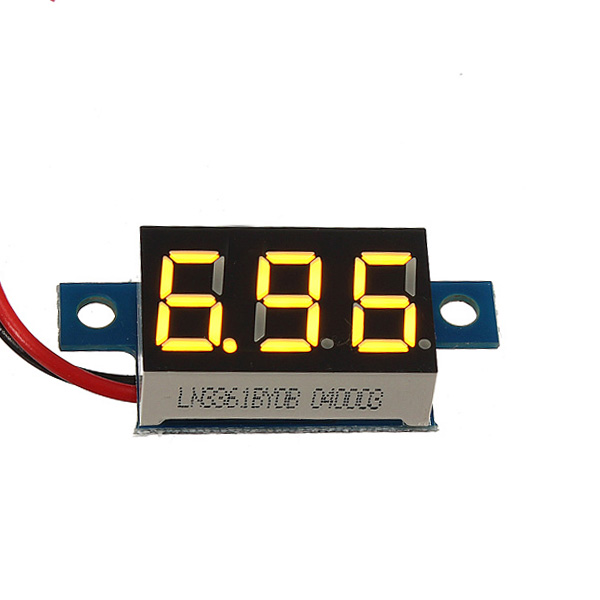 0.36 Inch Digital Voltmeter 3 - 30V Voltage Gauge LED Panel Meter 2 Wire