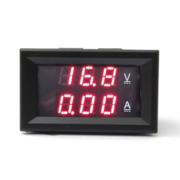0.28 Inch Dual Red LED DC 4.5-30V Digital Voltmeter Ammeter 2-200A w04 0 28 led red light digital voltmeter module black dc 2 50 30v