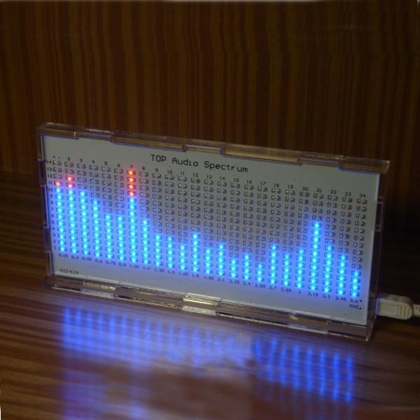 DIY AS1424 Music Spectrum LED Flashing Kit TOP Audio Spectrum ask11 sector pointer level indicator vu table led music spectrum electronic diy kit