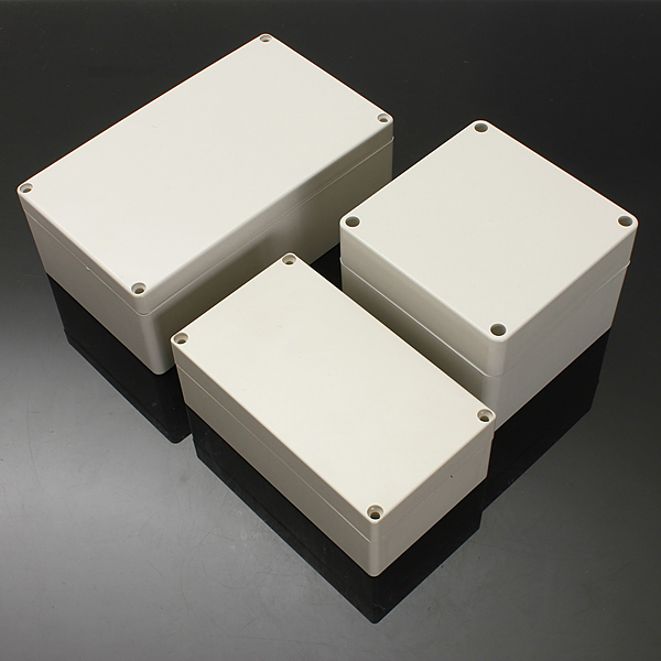 Waterproof ABS Plastic Electronic Box White Case 6 Size waterproof box abs switch box plastic box electronics 200 200 95mm ip66 ds ag 2020 s