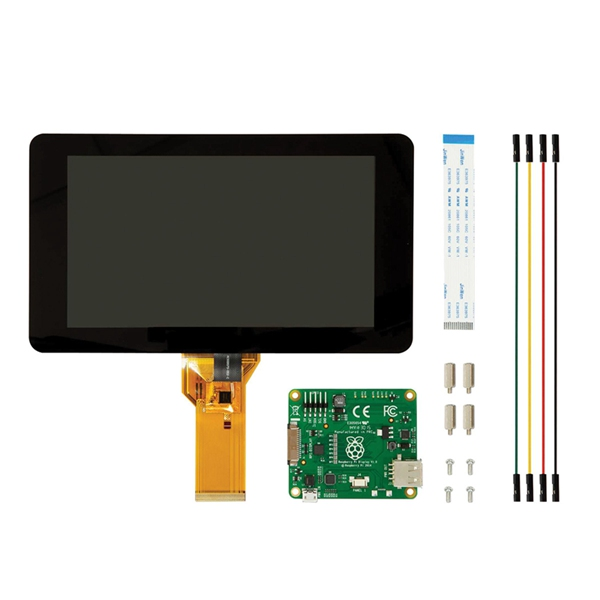 Official Raspberry Pi 7 Inch Touchscreen Display With Acrylic Base Holder For Raspberry Pi 2B / B+ / A+ от Banggood INT