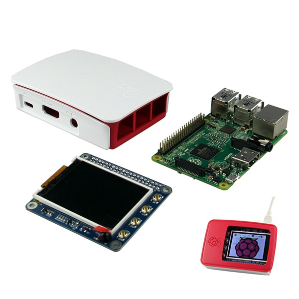 High PPI 2.2 Inch TFT Display Shield + Raspberry Pi 2 B With Case от Banggood INT