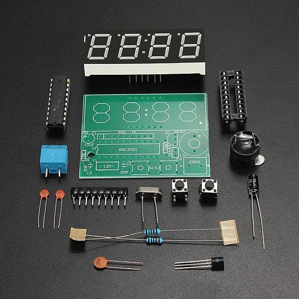 5Pcs C51 4 Bits Electronic Clock Electronic Production Suite DIY Kits