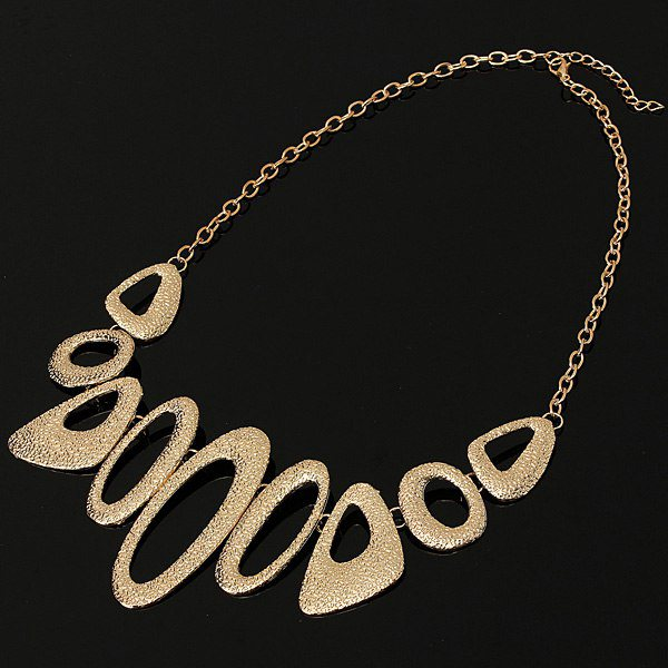 Hollow Bib Necklace