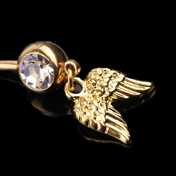 Wings Crystal Belly Ring
