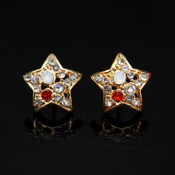 Colorful Rhinestone Star Earrings