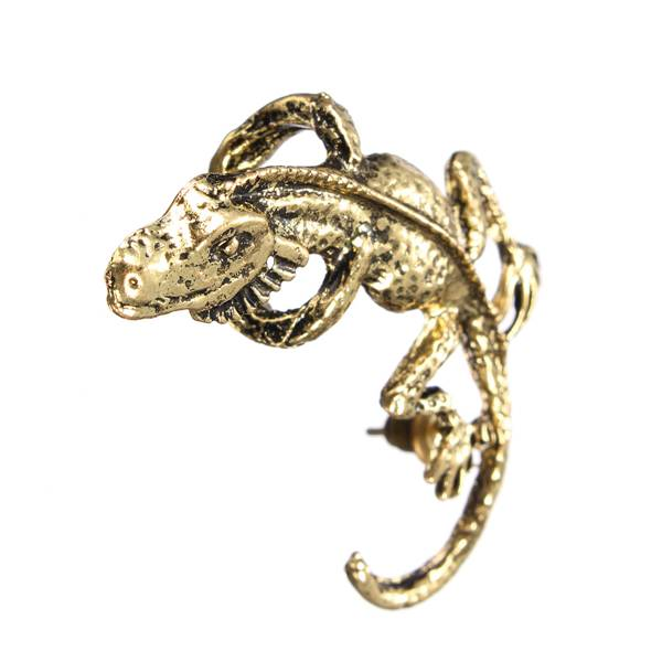1pc Punk Alloy Gecko Lizards Ear Cuff Stud Earring Unisex - AlloyEar Stud<br>Item Specifics: Material: Alloy Color: Silver, Bronze Gender: Unisex Style: Punk Pattern: Animal Earring Length: About 4cm Earring Diameter: About 1.3cm Weight: About 6g Package Includes: 1 X Earring Note: 1.Due to the difference between different monitors, the picture may not reflect the actual color of the item. Please consider this before the purchase. 2.Please allow slight deviation for the measurement data.<br>