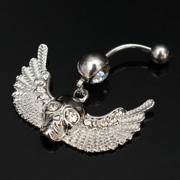 Skull Wings Belly Ring