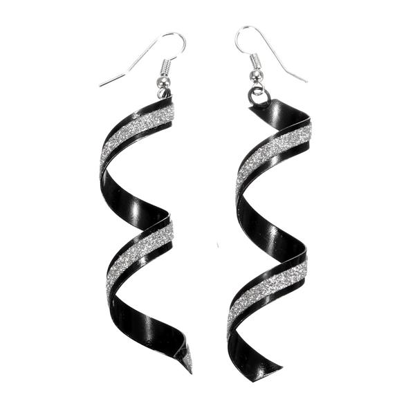 Spiral Frosted Drop Earrings