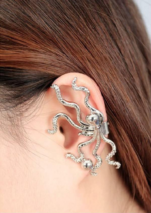 Octopus Animal Ear Clip