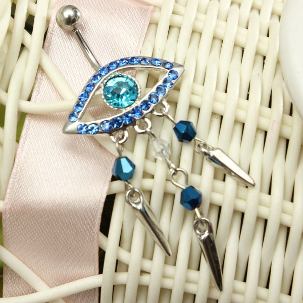 Evil Eye Navel Ring