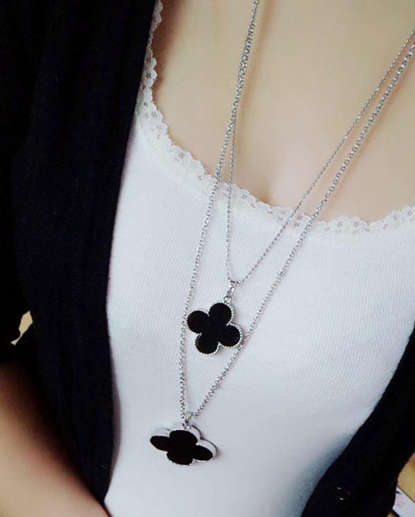 Clover Double Layers Chain Necklace