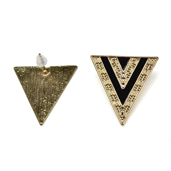 Enamel Triangle Stud Earrings