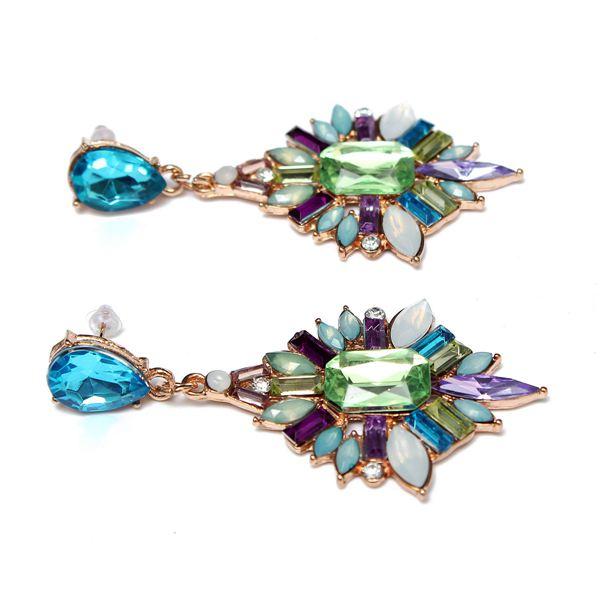 Vintage Rhinestone Water Drop Earrings