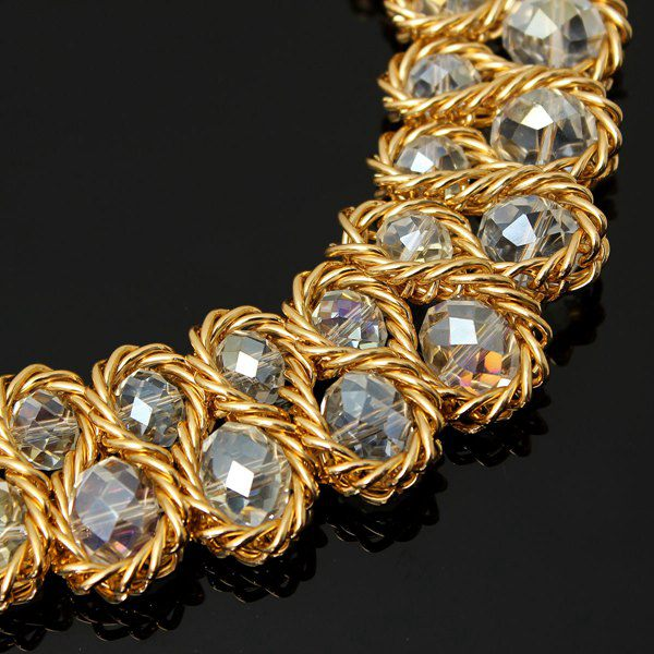 Double Crystal Bead Necklace