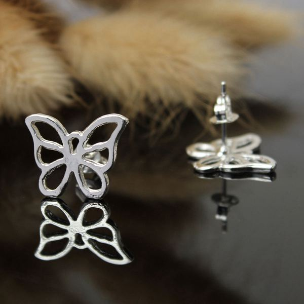 Hollow Butterfly Earrings Pendant Necklace