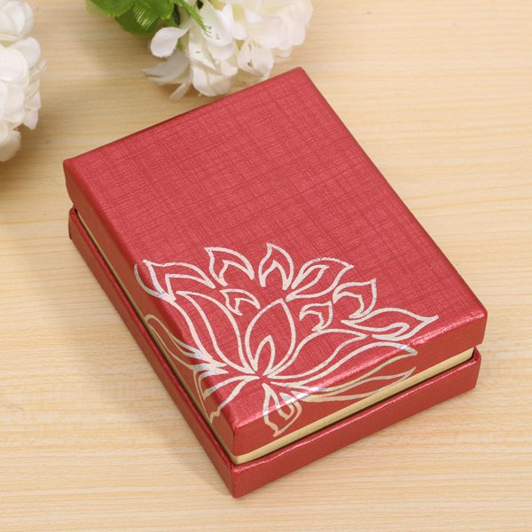 Cardboard Lotus Gift Jewelry Box