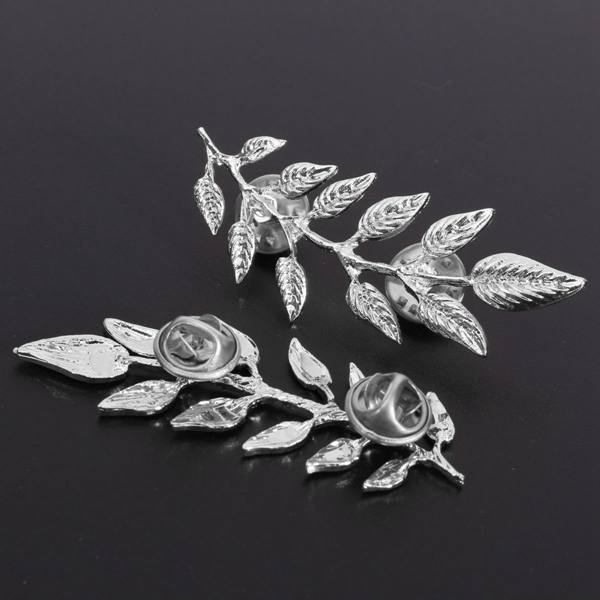 Vintage Leaf Collar Pins