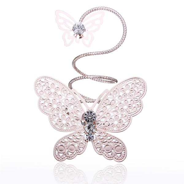 Double Butterfly Finger Ring
