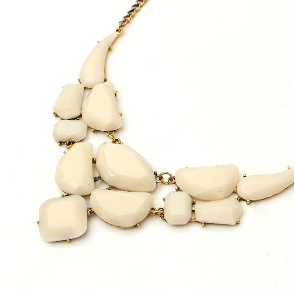 Irregular Stone Statement Necklace