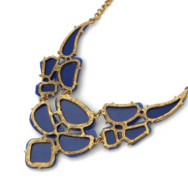 Irregular Stone Pendant Statement Necklace