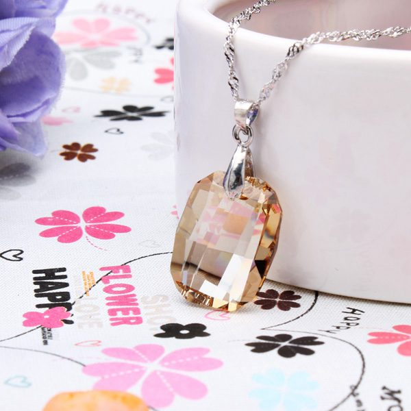Rhombus Austrian Crystal Necklace