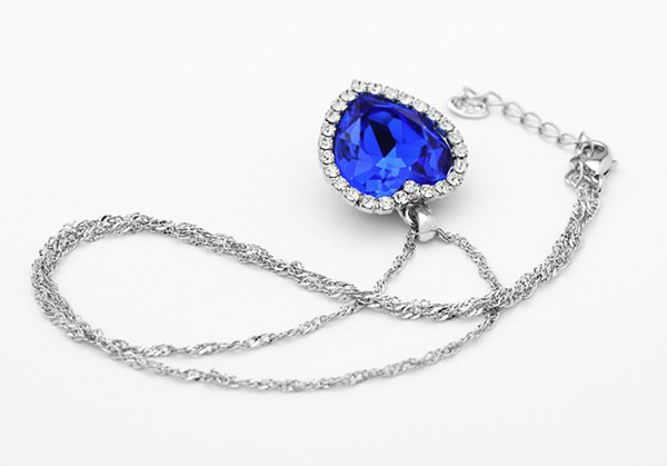 Crystal Ocean Heart Necklace