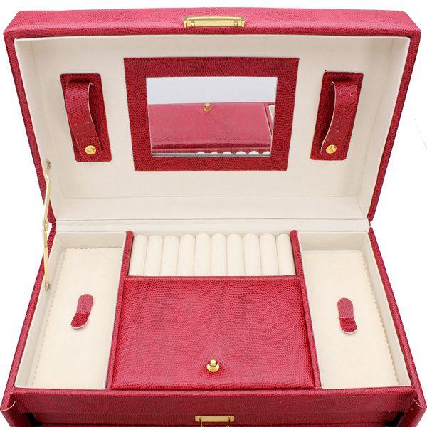 Lizard Leather Jewelry Box