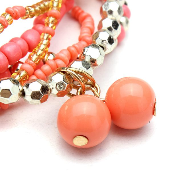 Multilayer Beads Tassel Bracelet