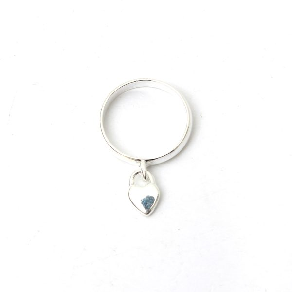 Peach Heart Pendant Finger Ring