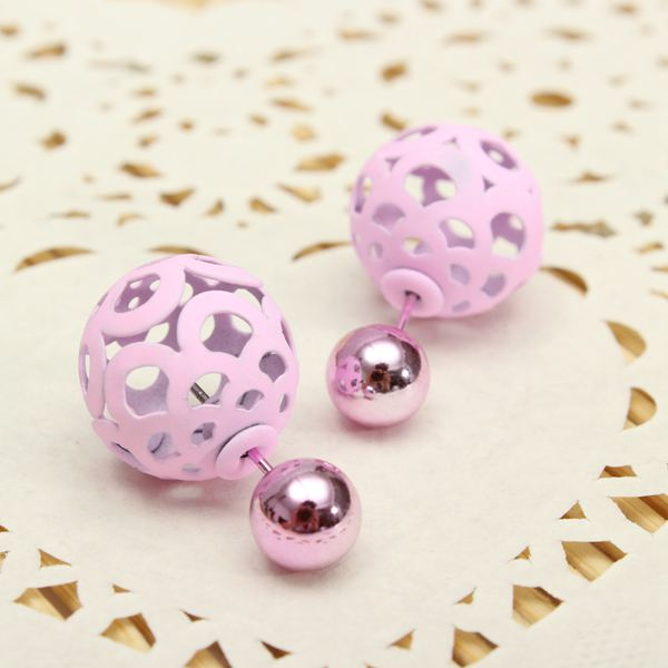 Hollow Ball Double Faced Earrings