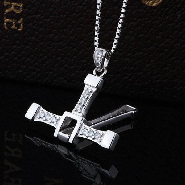 925 Silver Zircon Cross Pendant