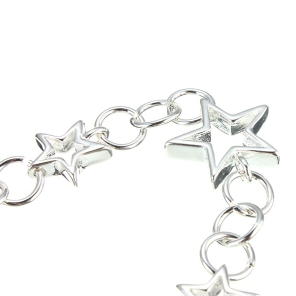 Silver Plated Hollow Stars Bracelet