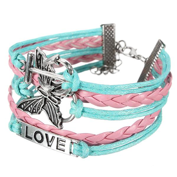 Multilayer Butterfly Anchor Bracelet