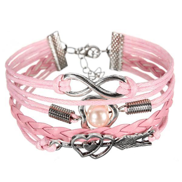 Infinity Heart Pearl Bracelet