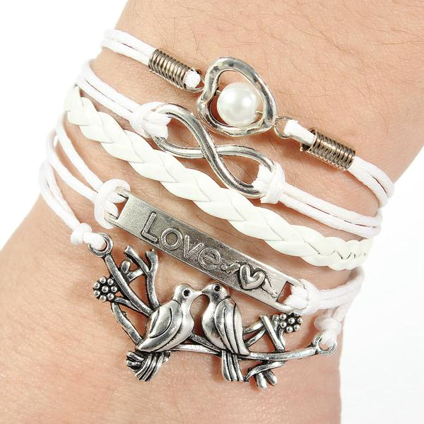 Pigeon Infinity Multilayer Leather Bracelet