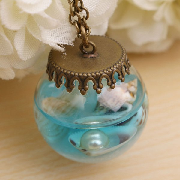 Current Bottle Glass Necklace