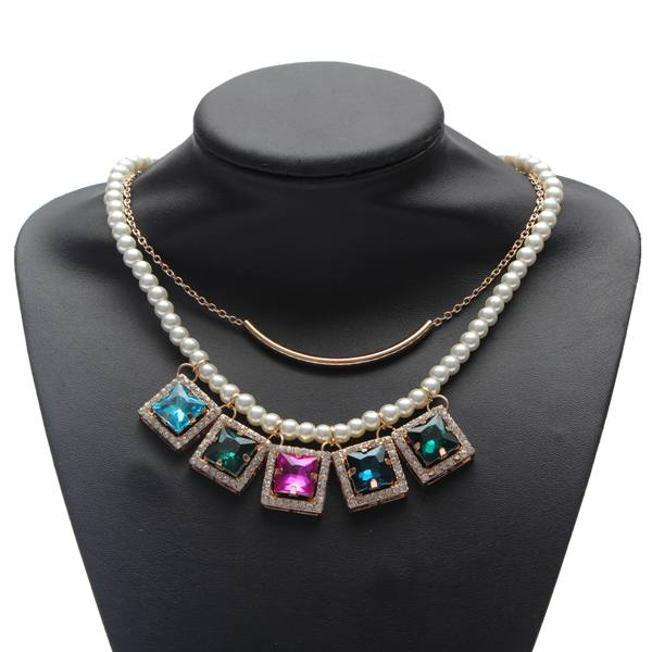 Double Layers Pearl Necklace