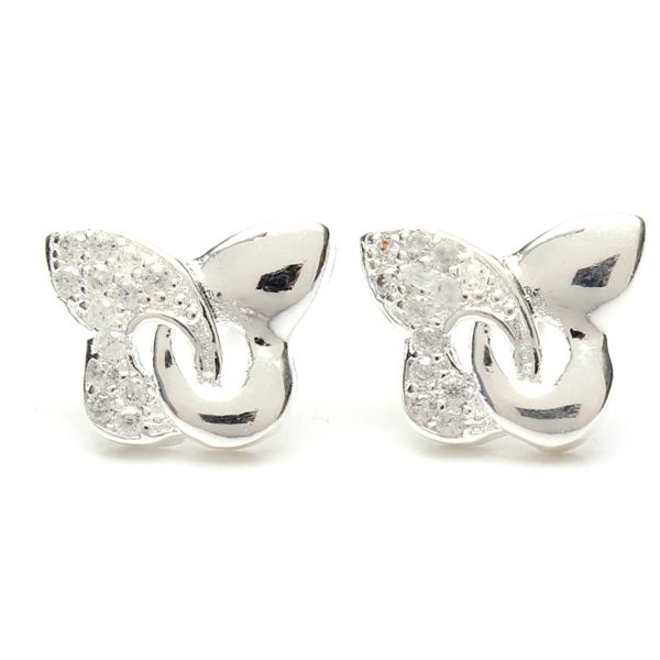Silver Plated Butterfly Earrings