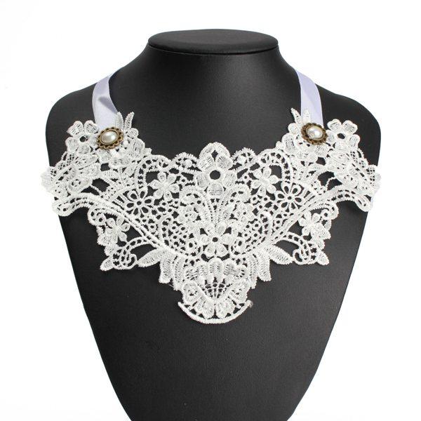 Lace Flower False Collar Necklace