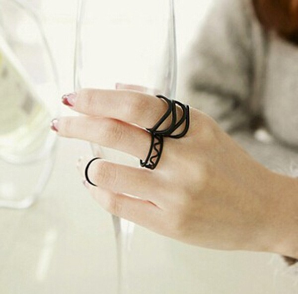 Open Cross Band Knuckle Rings
