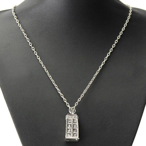 Vintage Police Box Chain Necklace