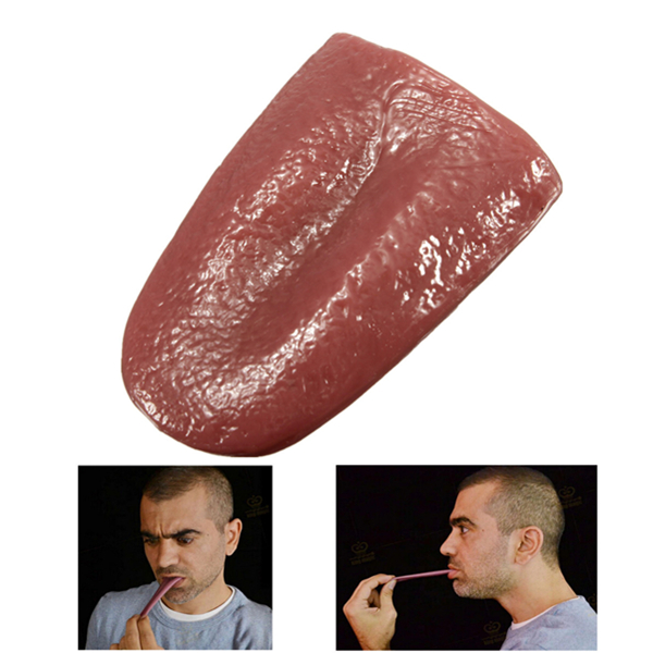 Realistic Tongue Gross Jokes Prank Magic Tricks Halloween Horrific Prop