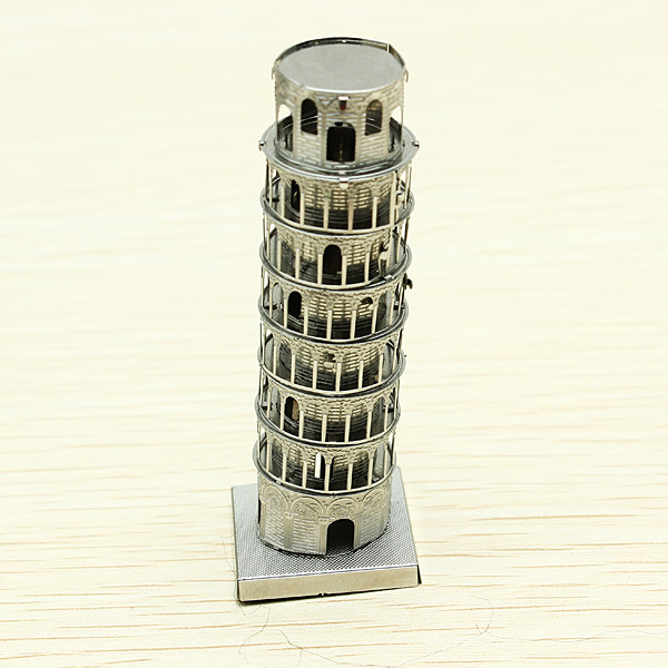 ZOYO Tower Pisa DIY 3D Laser Cut Models Puzzle - EachineBlock &amp; Building Toys<br>ZOYO Tower Pisa DIY 3D Laser Cut Models Puzzle Description: Theme: Tower Pisa Weight: 30g Material: Steel Style: DIY Metal Puzzle Color: Silver Degree of difficulty:  Note: Small parts should be kept away from children under 3 years old. Be careful of the sharp parts. Package Included: 1 x Tower Pisa Puzzle 1 x Instruction Manual<br>