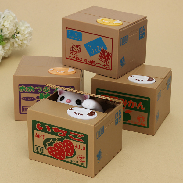 New Year Gift Cute Cat Automated Steal Stealing Money Saving Box Bank new original ki0042 warranty for two year