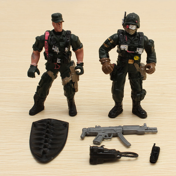 2PCS Special Forces Soldier Toy Action Figure Dynamic Model 1:18 от Banggood INT