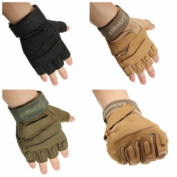 Buy Motorcycle Riding Tactical Military Airsoft Half Finger Gloves